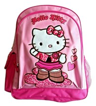 Vintage Hello Kitty Backpack 2006 Pink Satin Glitter Embroidered SANRIO - $135.58