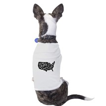 I Love USA Map White Dog Shirt For Independence Day Small Dog Only - $14.99