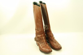 SAM EDELMAN Kailee Brown Upper Leather Tall Boots Size 6.5 M - $29.99