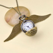 Harry Potter Cosplay Golden Wings Snitch Toy Watch Quartz Pocket Watch N... - $5.99