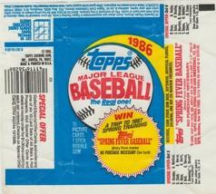 1986 Topps Baseball Wrapper Nm - $2.97