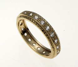 Vintage 9 Carat Gold Full Eternity CZ Set Ring  - $91.04