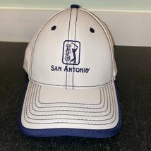 TPC San Antonio Baseball Hat Mens OSFA White Blue Golf Cap Strapback - £7.53 GBP