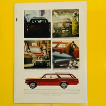 1964 Pontiac Wide Track Tempest Station Wagon  Estate Car Print Ad - $9.85