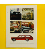 1964 Pontiac Wide Track Tempest Station Wagon  Estate Car Print Ad - $9.85