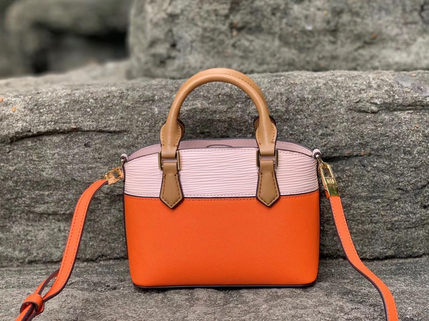 Tory Burch Robinson Color Block Top Handle Mini Bag
