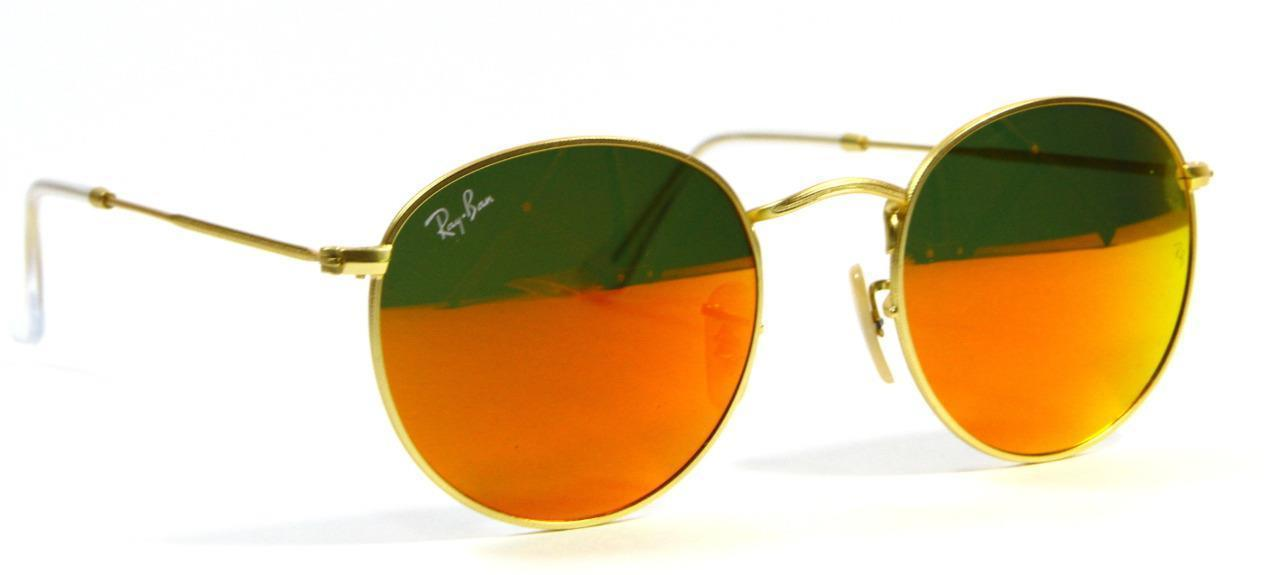 Primary image for Ray Ban 3447 112/69 Very Rare Gold Orange Sunglasses 50mm New Genuine