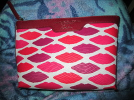 Estee Lauder Red/white Lip Cosmetic Bag Brand New - $13.50