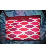 Estee Lauder Red/white Lip Cosmetic Bag Brand New - $13.50