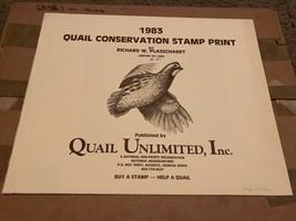 1983 Bobwhite Quail Conservation Stamp & Print Set Richard Plasschaert  - $59.35