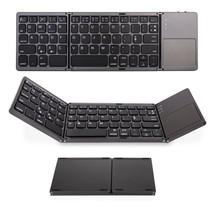 Portable Wireless Bluetooth Keyboard with Touchpad Tri-Fold Ultra-Slim F... - $45.73
