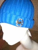 "Michael Kors Woman's ""Chic"" COBALT Ribbed  Beanie Hat w/Metal Logo NWT $... - £16.26 GBP"