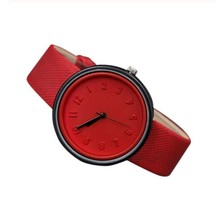 Round Simple Fashion Watches Canvas Belt Unisex Casual Wristwatch Box image 5