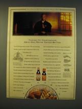 1990 Kikkoman Teriyaki Sauce Ad - Thanks to vegetarians - $14.99