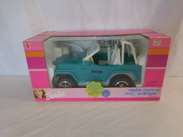 Barbie Jeep Wrangler Mattel RC Control Blue teal 2000 color New very rare - $191.01