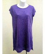 H&M Divided S Tunic Dress Purple T Shirt Style Cap Sleeves Micro Mini - $15.66
