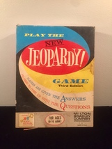Vintage 1964 Jeopardy board game- complete set