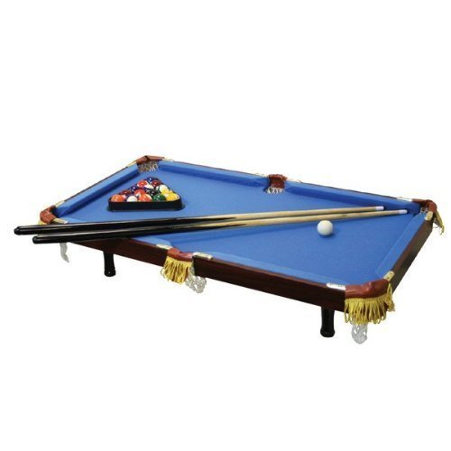 Executive Tabletop Billiard Pool Table - Real Wood, Real Felt - Blue for sale  USA