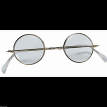 Cosplay Steampunk ROUND EYE GLASSES Wire Frame Granny Hippie Costume Acc... - €4,29 EUR