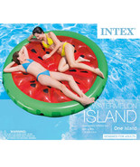 Intex 72 in Heavy Duty Grab Rope Watermelon Swimming Pool Floating Islan... - $44.55
