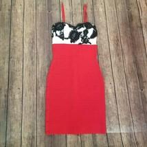 BCBG Maxazria Womens Red White Black Sleeveless Bandage Bodycon Dress Si... - $39.59