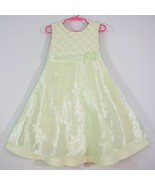 Party Formal Easter Dress Mint Green Organza Overskirt Pearl Bead Bonnie... - $8.90