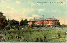 Sacred Heart Academy at Lousiville Kentucky vintage Post Card  - $7.00