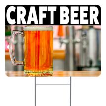 """Craft Beer 24"""" x 18"""" Double Sided Road Yard Sign: Heavy Duty Stake - $35.00"""