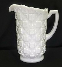 Vintage Westmoreland Milk Glass Embossed Old Quilt Pattern 40 oz. Pitcher - $19.95