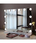 Fenair Makeup Vanity Mirror with Lights USB Outlet for Mobile Phone Holl... - $105.99