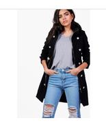 Boohoo Women Madison Military Style Coat Black Size US XS NWT $ 109.00 - $49.49
