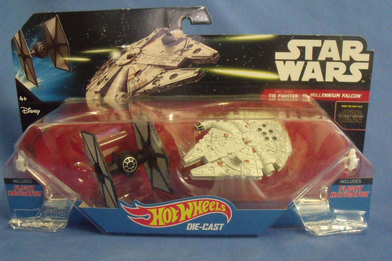 Primary image for Toys Mattel NIB Hot Wheels Disney Star Wars Tie Fighter vs Millennium Falcon