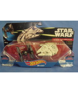 Toys Mattel NIB Hot Wheels Disney Star Wars Tie Fighter vs Millennium Fa... - $14.95