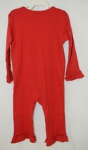Blanks Boutique Long Sleeve Red Snap Up Ruffled Romper 18 Months image 2
