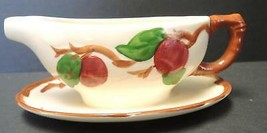 Vintage Franciscan Apple Pattern Gravy Boat With Attached Underplate - $11.40