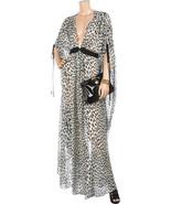 Temperley London OBERON Animal Print Black White Kaftan Dress UK 6 / US ... - $749.00