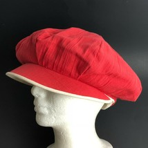 Vtg 50s 60s Poor Boys Cap Hat Cabbie Newsboy Funky Red Women Costume Cos... - $41.44