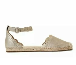 Marc Fisher Jarquis Cap Toe Casual Ankle Strap Sandals Gold, Size 8 - $69.29