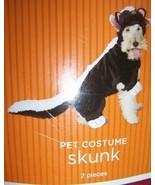Skunk Dog Costume Plush Pet Costume SZ Lg NEW - $12.00