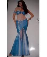 Ladies Sexy Mermaid Costume SZ LG 12-14 NEW Pearls Sequins Blue - $19.99