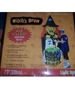 Witch's Brew Halloween Inflatable 7 FT NEW Green Witch Inflates in Minutes  - $31.00