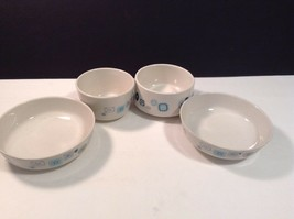 Franciscan Blue Gray Vintage Lot Of 5 3 Bowls 1 Cup - $11.70