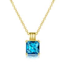 """Nirano Collection Bermuda Blue Pendant 18""""Chain Created with Swarovski® ... - $12.73"""