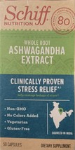 Schiff Nutrition Whole Root Ashwagandha Extract For Stress 50 capsules E... - $8.00