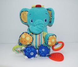 Bright Starts Elephant Plush Baby Infant Toy Kids II Teether Rattle - $7.69