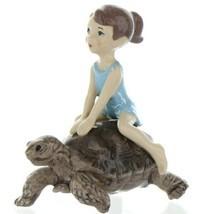 Hagen Renaker Specialty Turtle Girl Riding Tortoise Ceramic Figurine