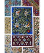 ORNAMENTS 15th Century Flowers Jewels Manuscripts - A. RACINET Color Print - $25.20
