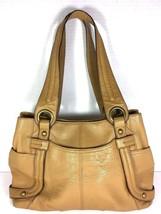 Tignanello Large Beige Multi Pocket Shoulder Bag – Well Worn - $19.39