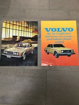 1977 Volvo  Full Line Sales Brochure & A/C Insert - $10.00