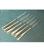 """Oneida Gala/Impulse Stainless 6 Dinner Knifes 9"""" HH ,Glossy Center Line Bead Tip - $19.99"""